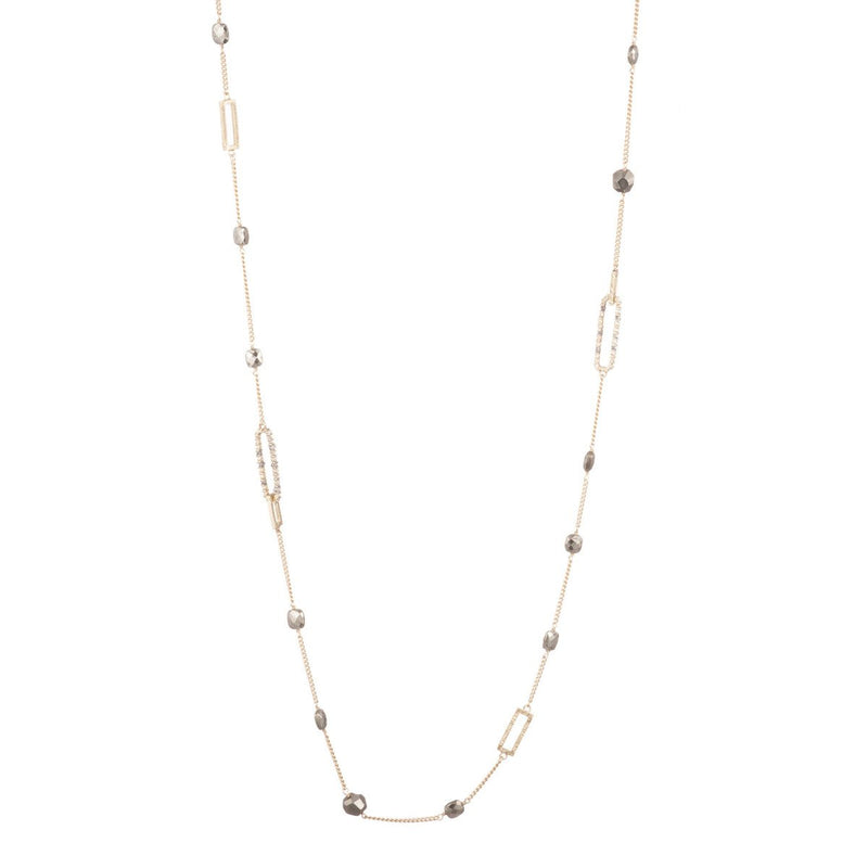 Pyrite Link Station Necklace