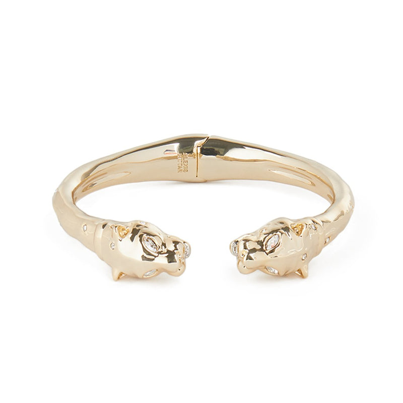 Face to Face Panther Hinge Bracelet
