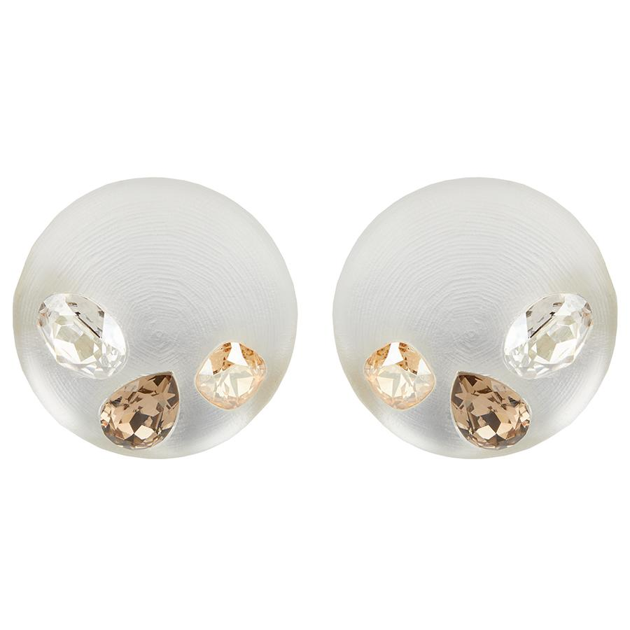 Crystal Studded Dome Clip