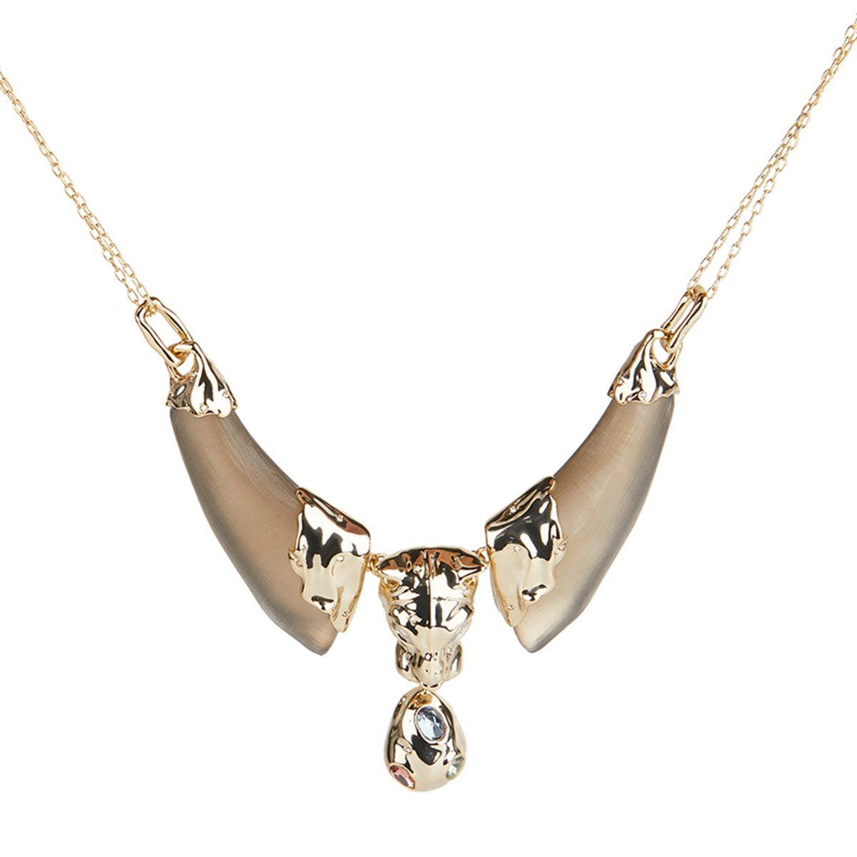 Panther Head Bib Necklace