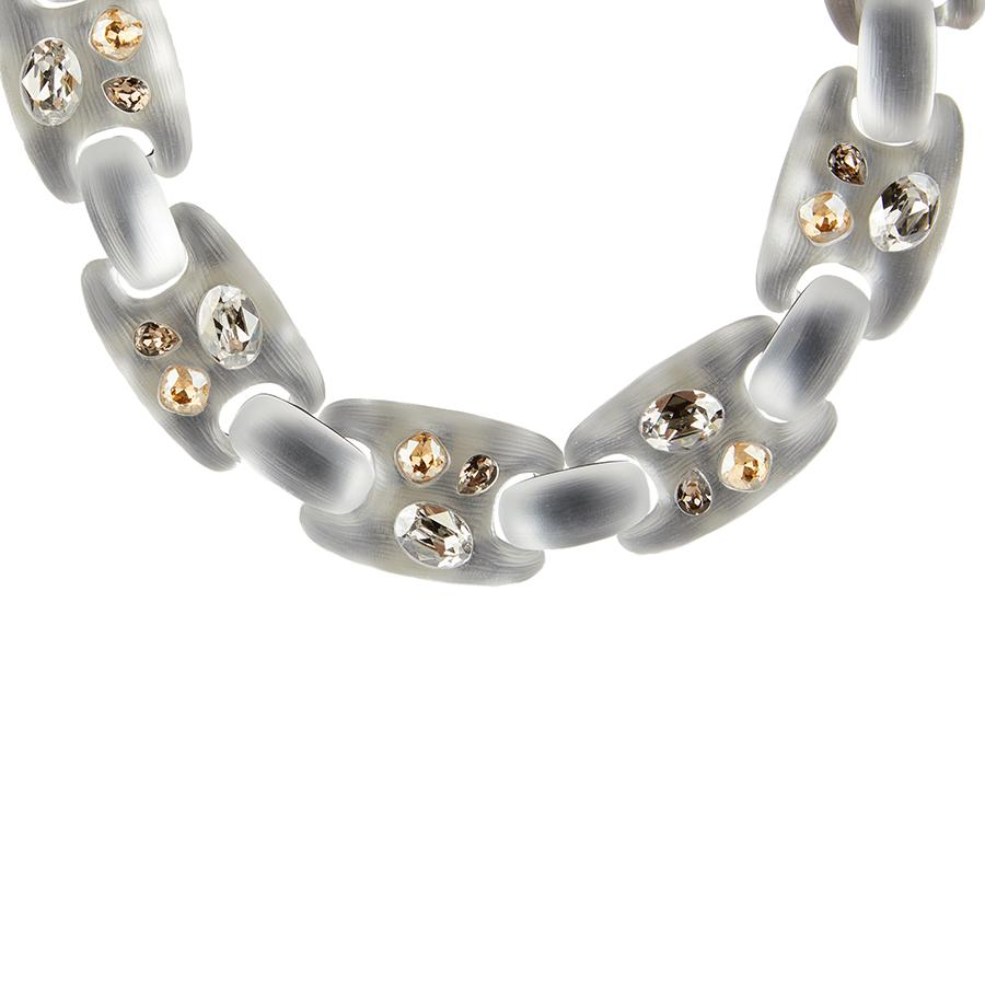 Limited Edition Crystal Studded Soft Link Necklace