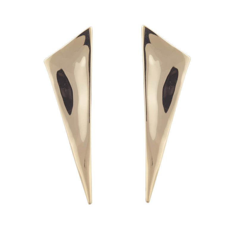 Liquid Gold Angled Pyramid Post Earring
