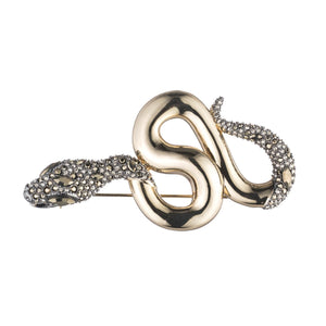 Snake Pin with Crystal Accent