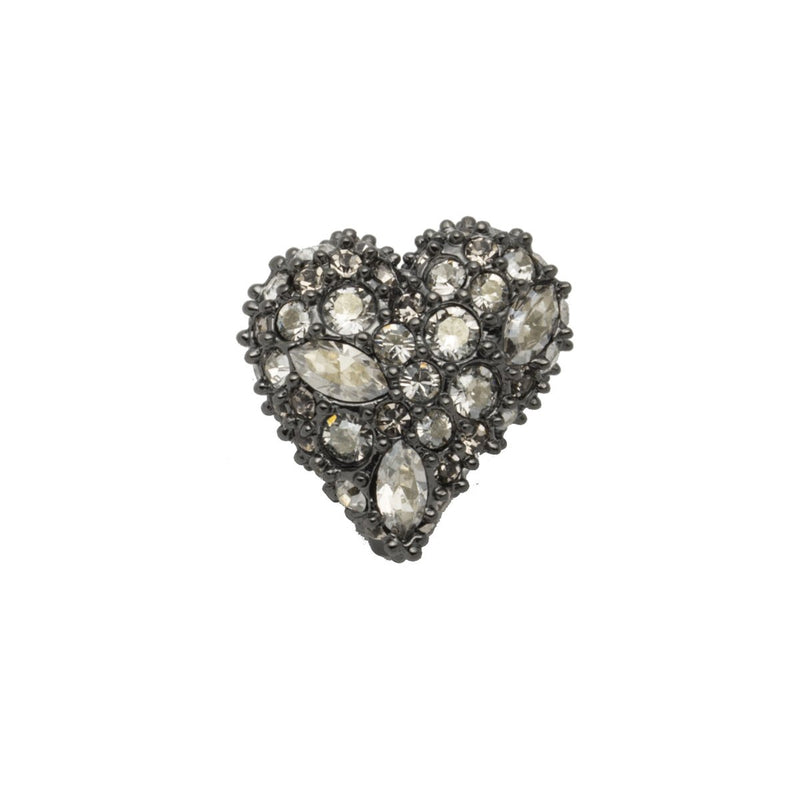 Crystal Pave Heart Slide