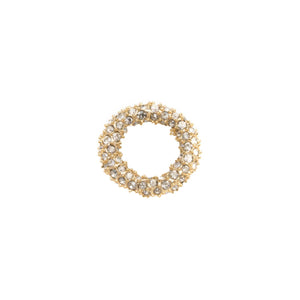 Gold Tone Pave Ring Slide