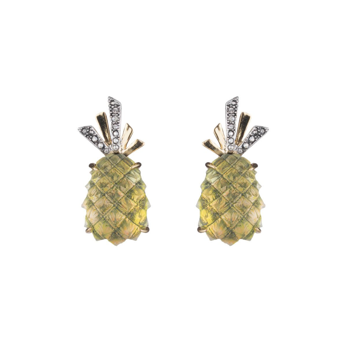 Pineapple Clip Earring