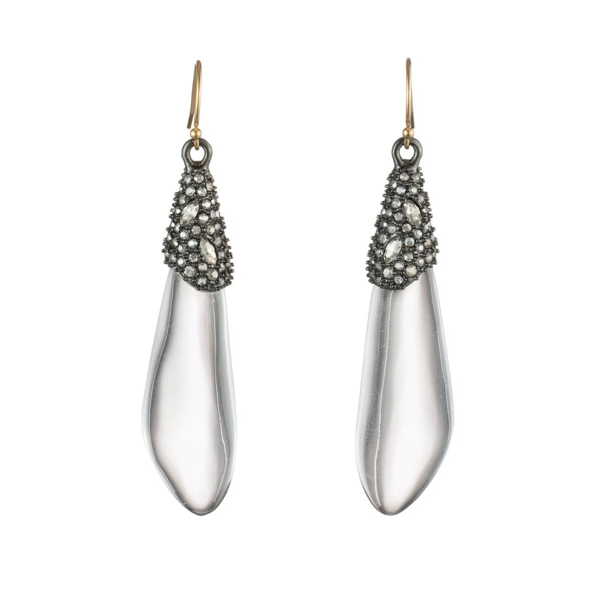Crystal Encrusted Capped Wire Earring