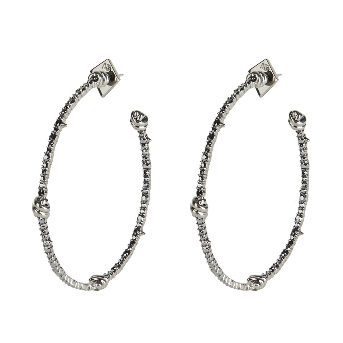 Crystal Pave Knotted Hoop Earring