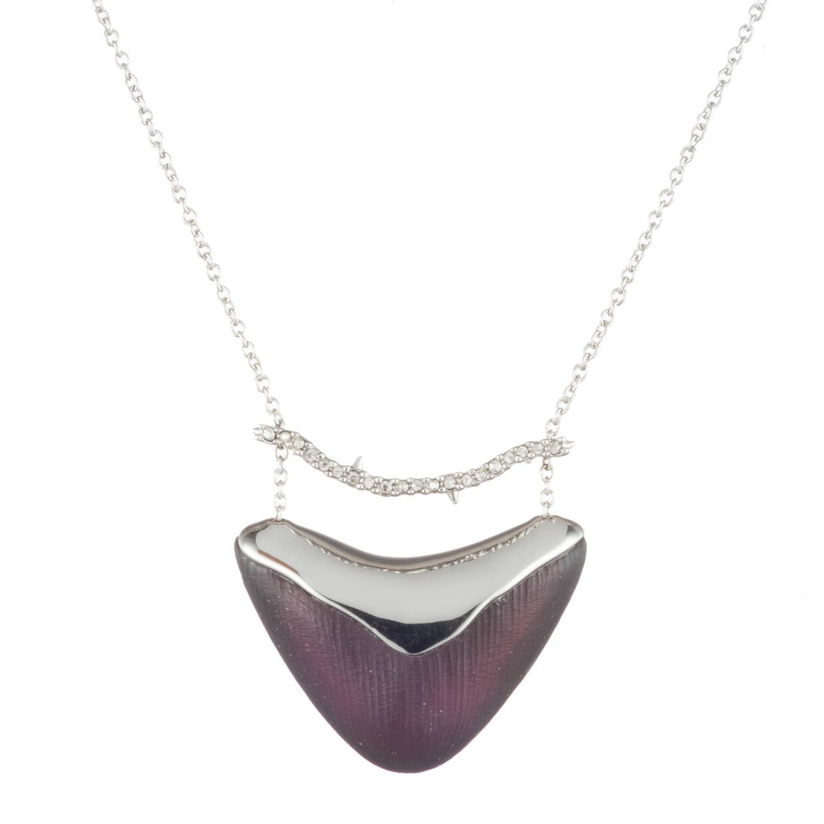 Crystal Bar Shield Pendant Necklace