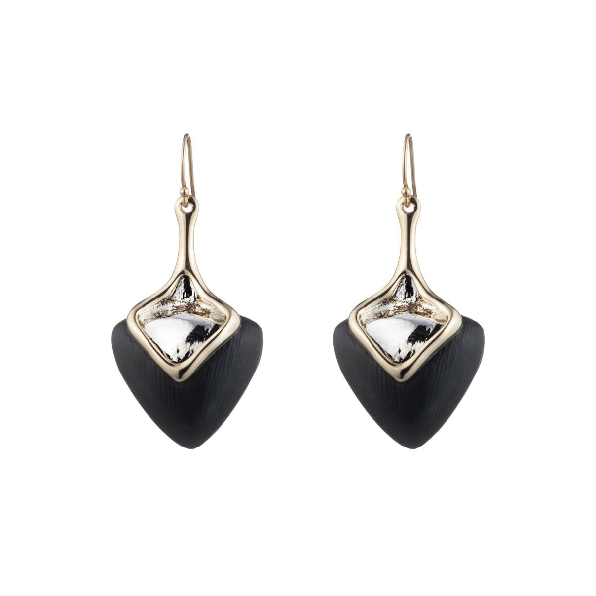 Two Tone Sculptural Drop Earring