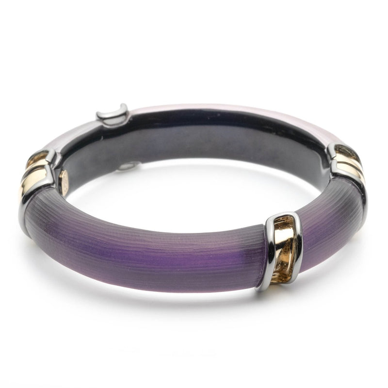 Two Tone Sectioned Hinge Bracelet