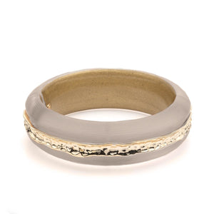 Hammered Metal Inlay Hinge Bracelet