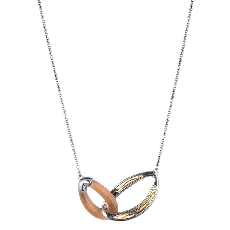 Two Tone Double Link Necklace