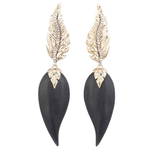 Feather Post Drop Earring