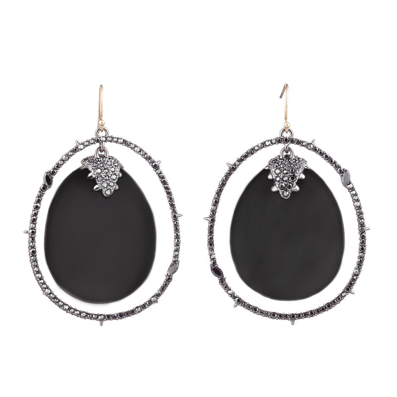 Crystal Orbiting Drop Wire Earring