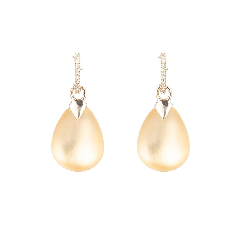 Tear Drop Crystal Post Earring
