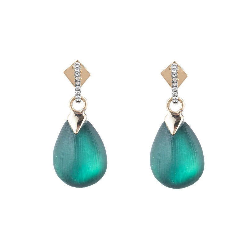 Teardrop Crystal Post Earring
