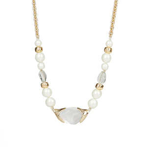 Encased Pebble Pearl Strand Necklace