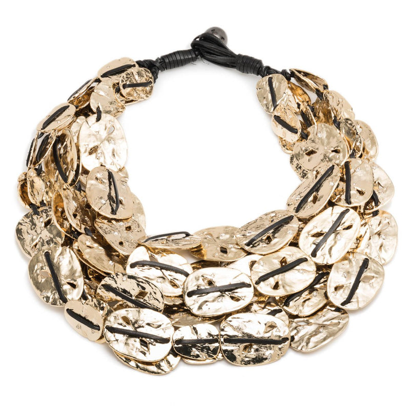 Large Rocky Coin Bib Necklace