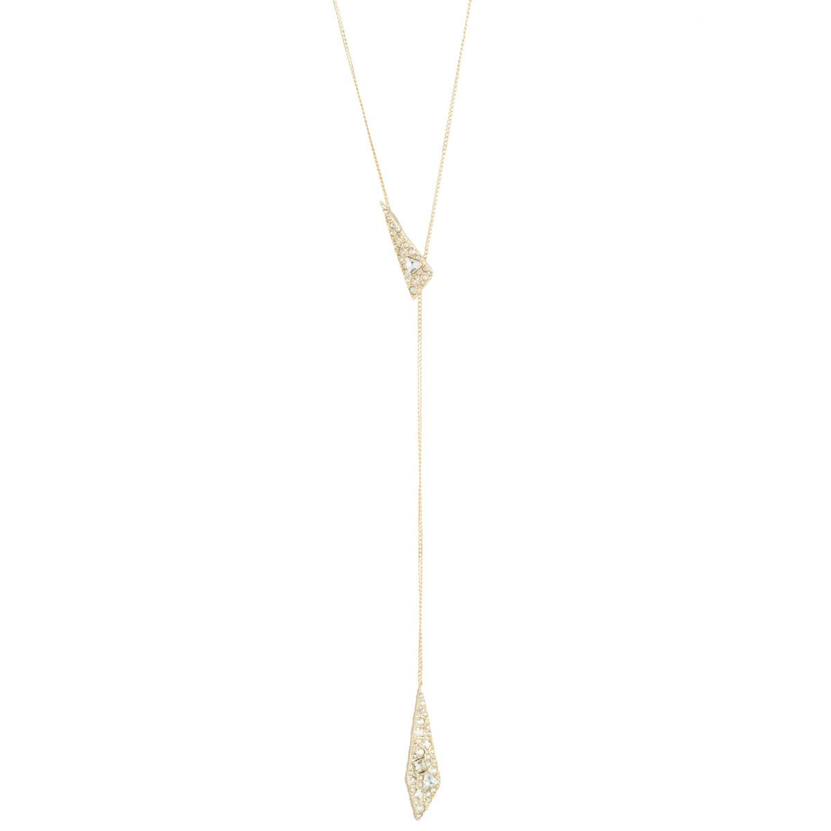 Crystal Encrusted Origami Lariat Necklace