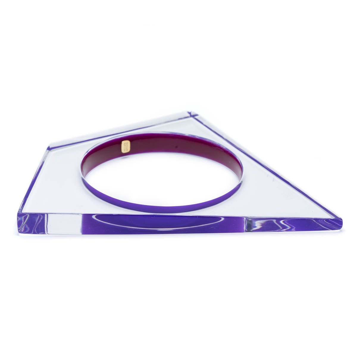 Thin Asymmetrical Lucite Bangle