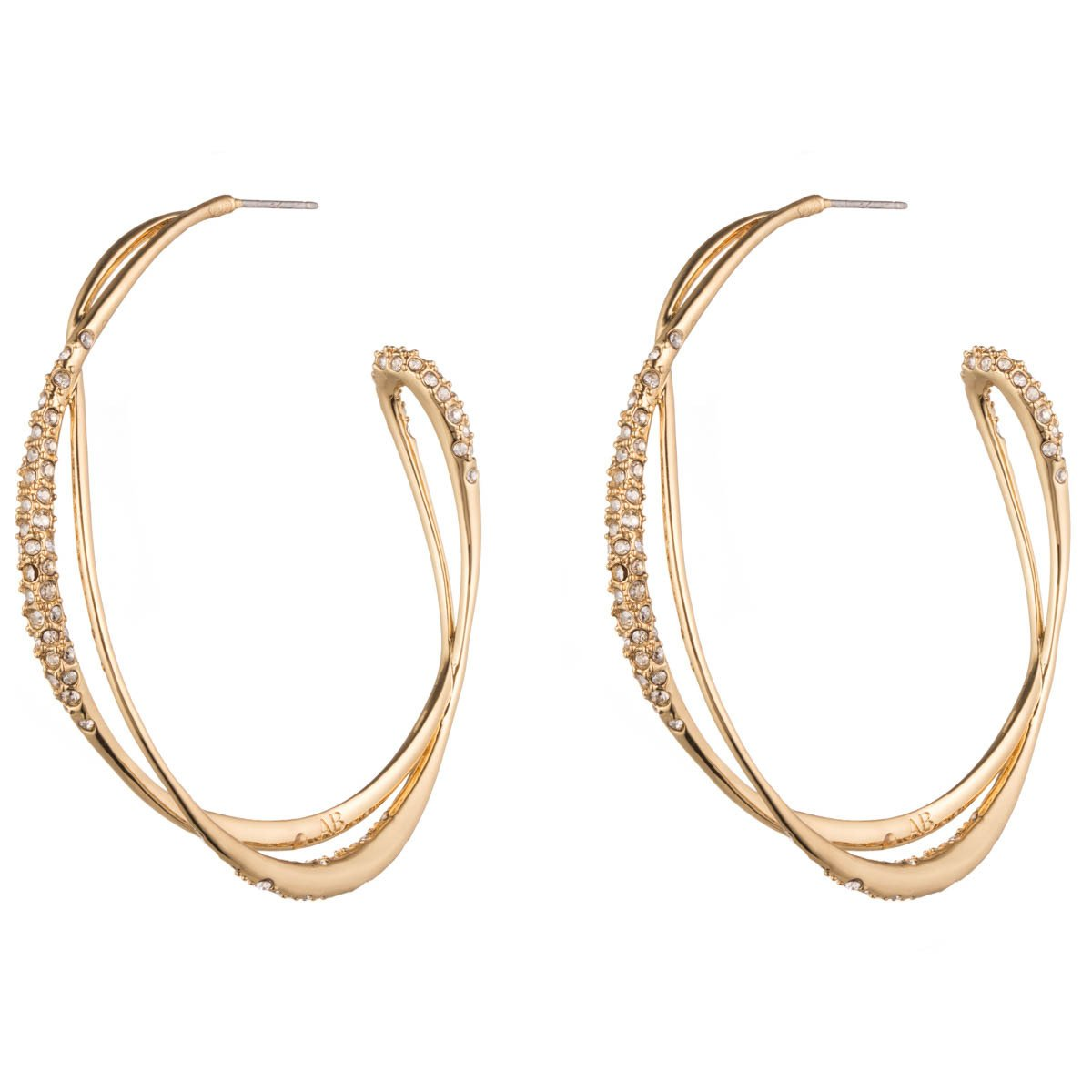 Encrusted Orbiting Hoop Earring
