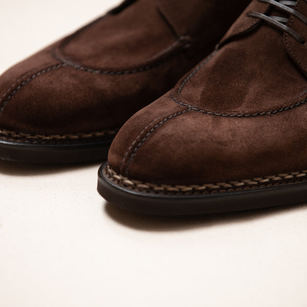 Suede Handcrafted Split Toe Derby Shoe
