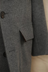 Cashmere Deconstructed Overcoat