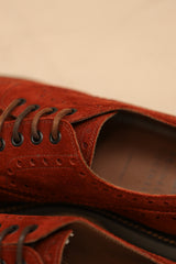 Suede Wingtip Derby Shoe