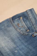 Soft Washed Denim Patched Jean