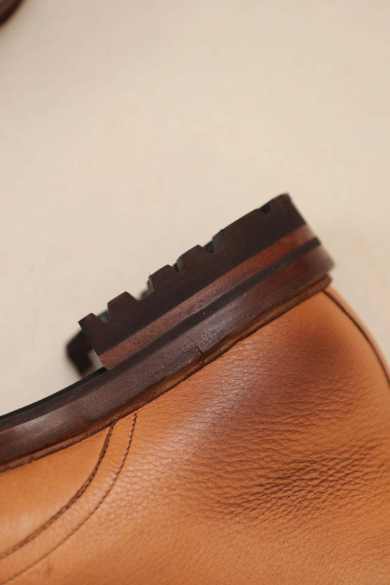 Leather Lug Sole Derby Boot