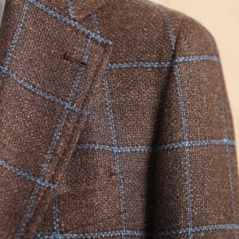 Blue Windowpane Sports Jacket