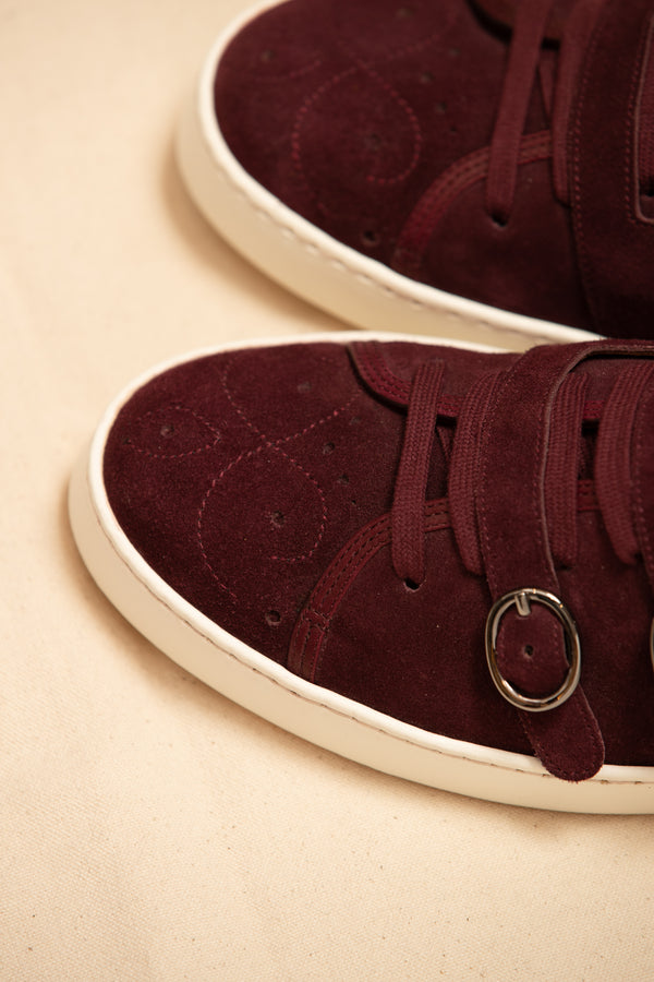 Suede Handcrafted Double Monk Sneaker