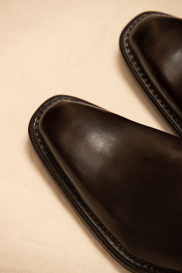 Leather Handcrafted Buckle Chelsea Boot