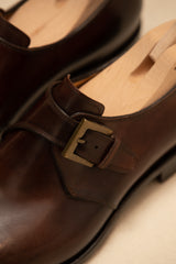 Leather Handcrafted Single Monk Strap Shoe