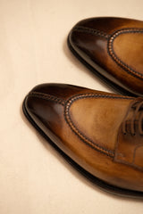 Leather Handcrafted Split Toe Derby Shoe