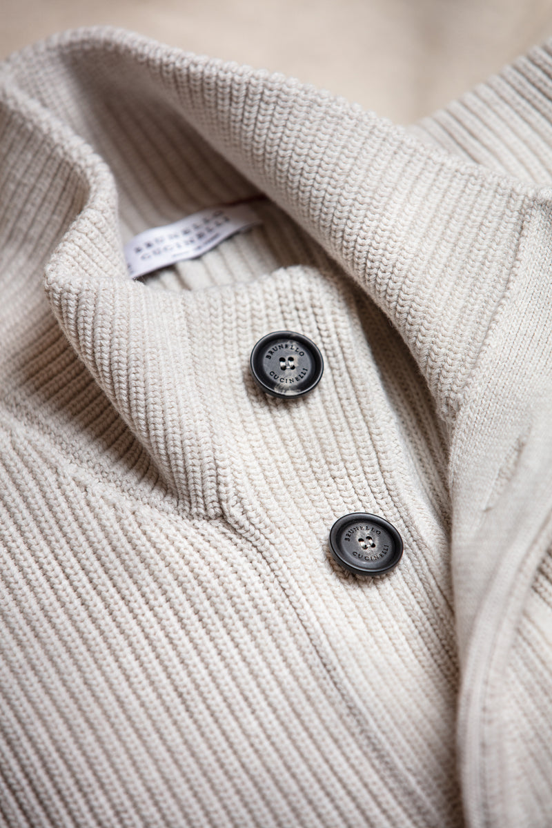 Cotton Ribbed Cardigan