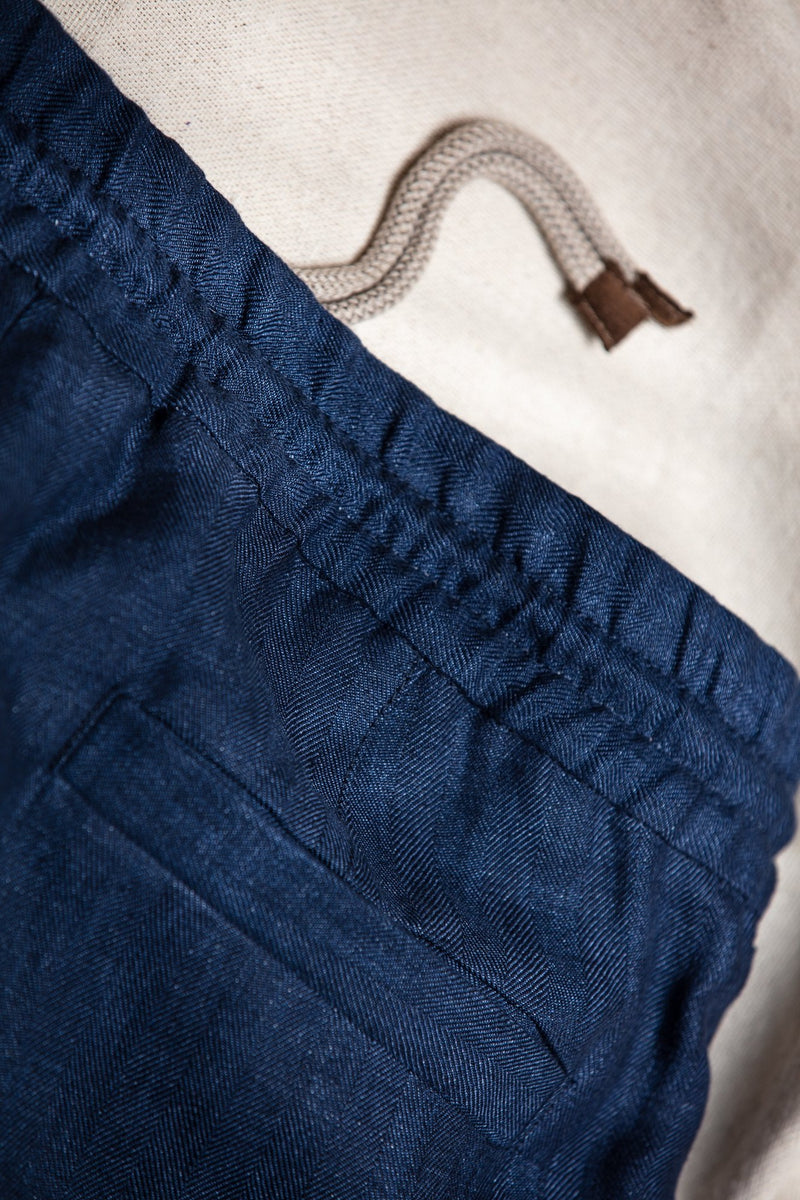 Linen Leisure Pleated Trouser