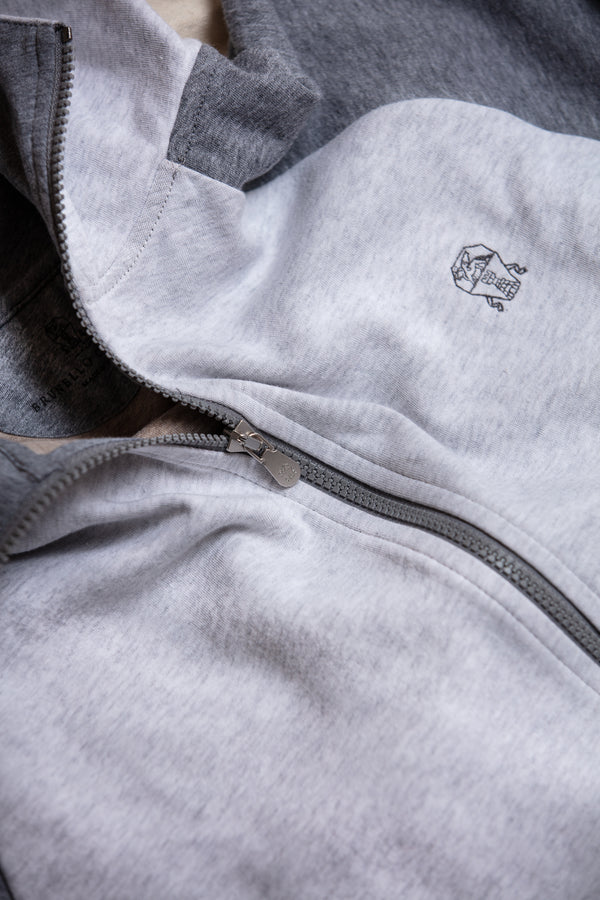 Techno Cotton Zip Hooded Sweatshirt