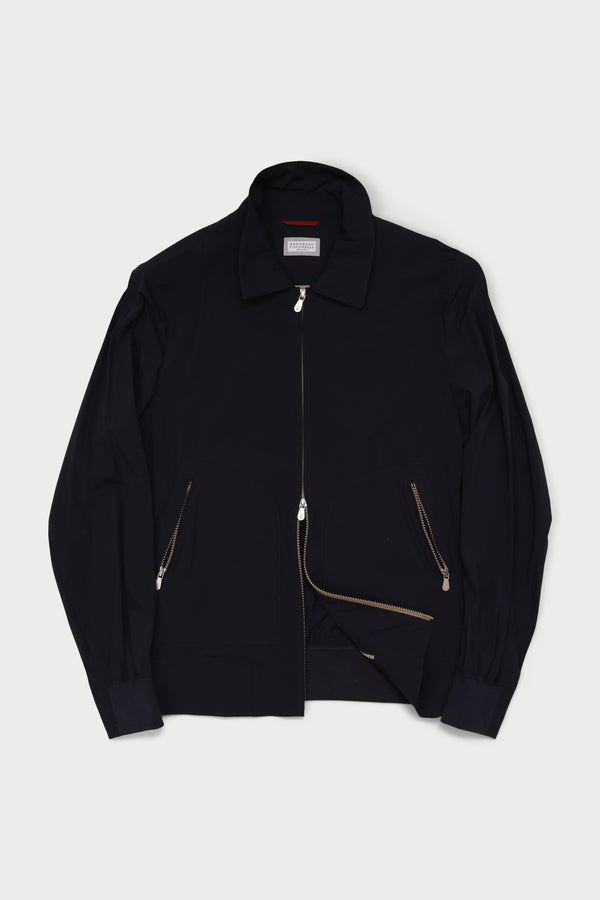 Water Resistant Nylon Knit Zip Bomber