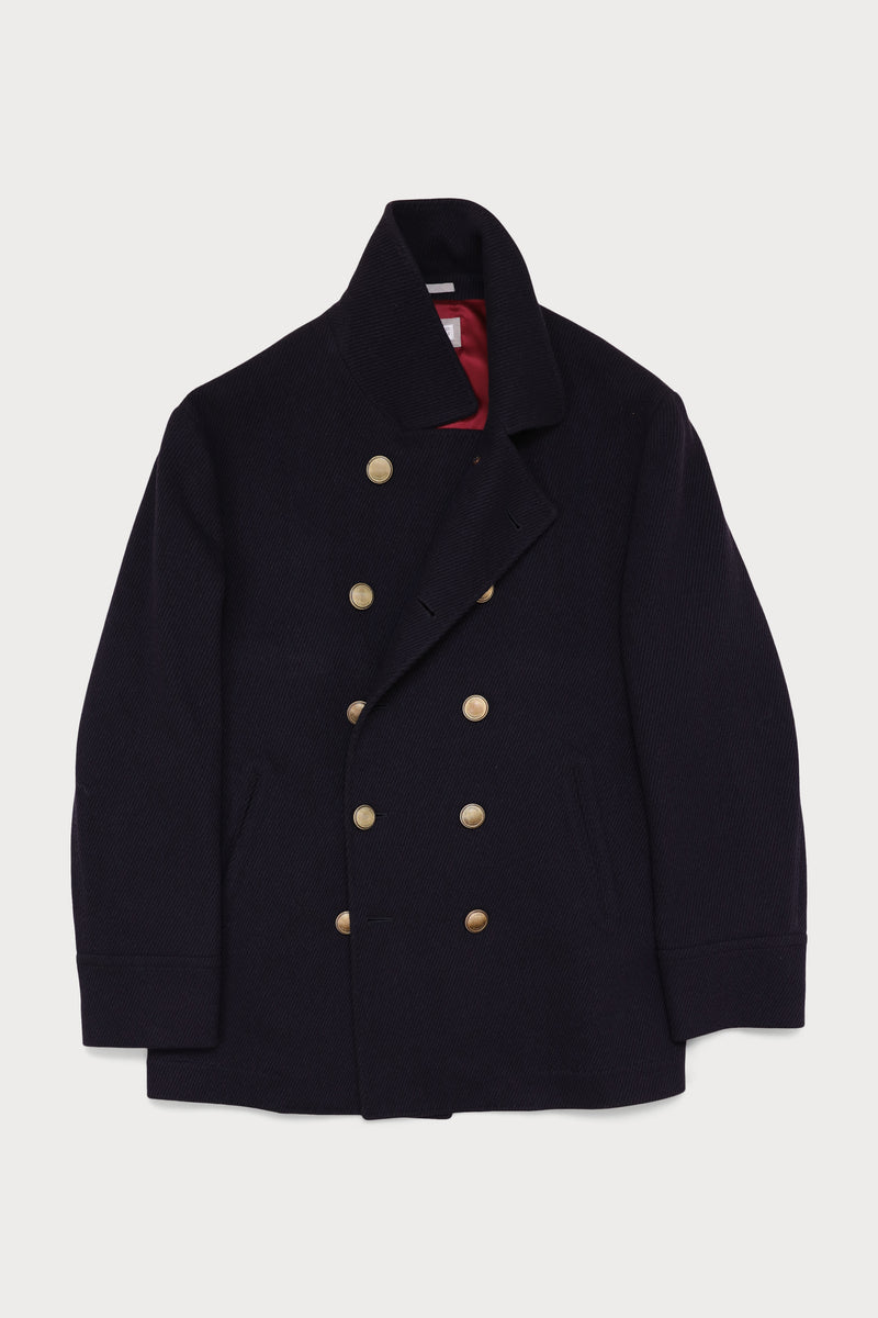 Cashmere Deconstructed Naval Pea Coat
