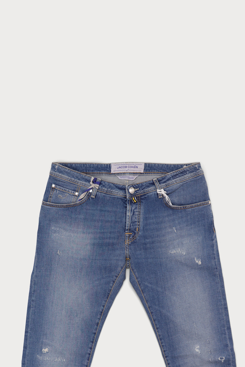Washed Cotton Five Pocket Jean