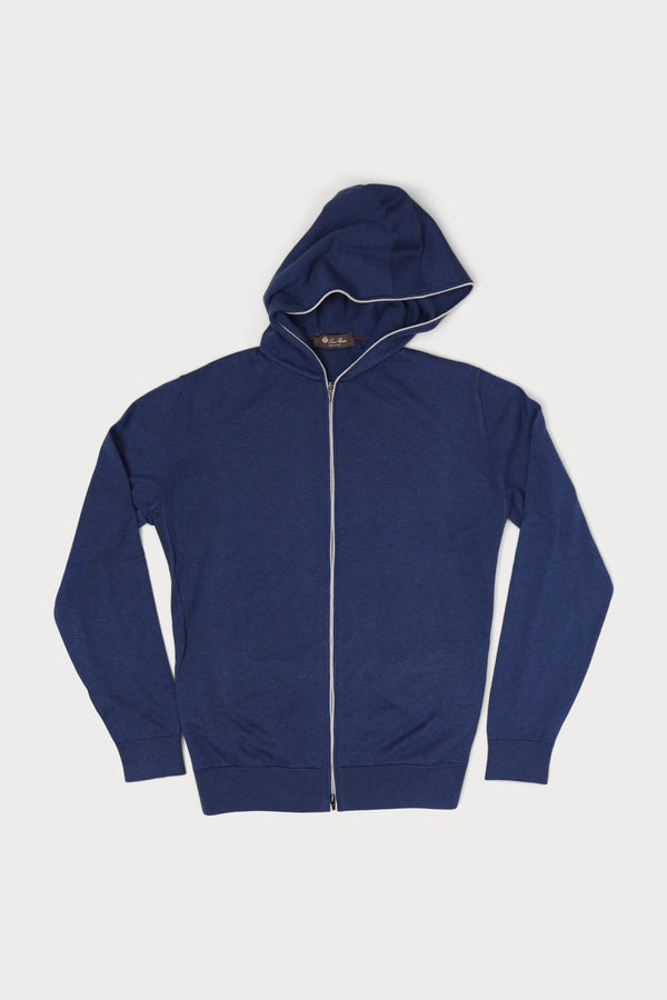 Cotton & Cashmere Leasure Hooded Bomber