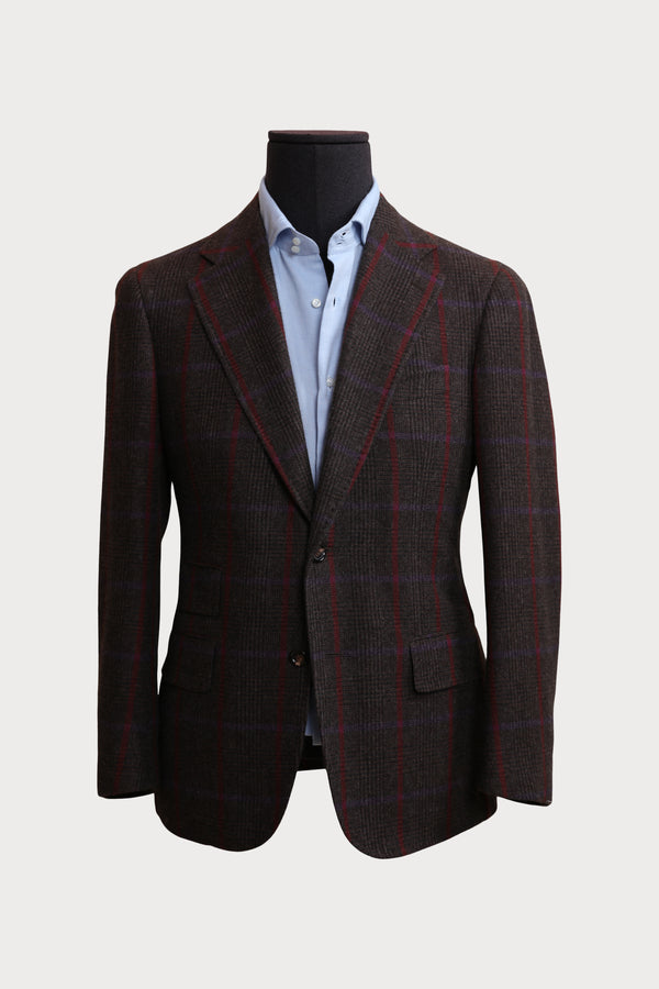 Wool Glencheck Handmade Sports Jacket