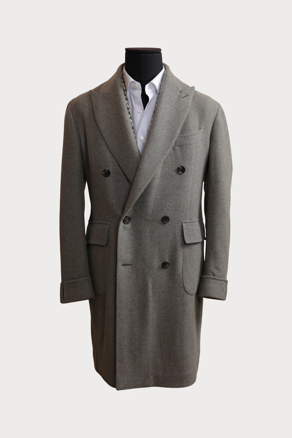 Cashmere & Wool Handmade Deconstructed Double Breasted Coat