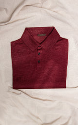 Cashmere Silk Knit Short Sleeve Polo