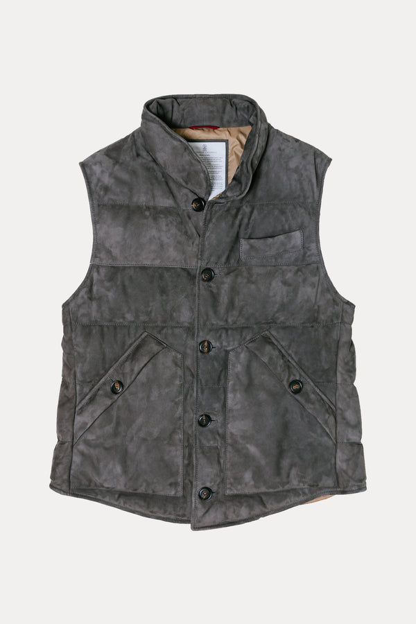 Suede Down Vest | GIACCA