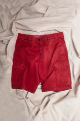 Garment Dyed Cotton Bermuda Cargo Shorts
