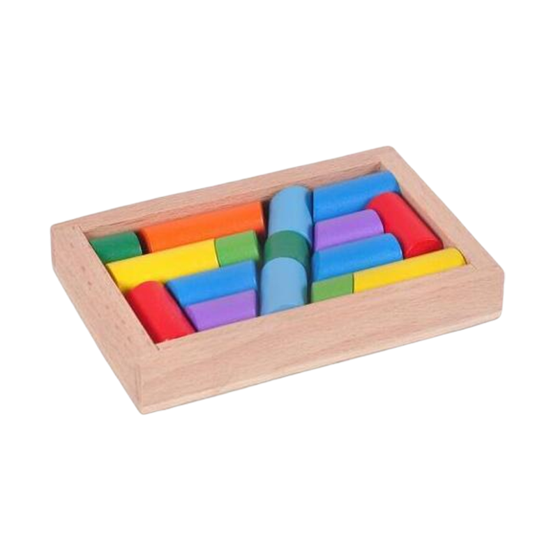 tangram montessori en cylindres l'insoluble casse-tete