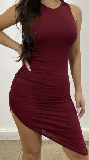 Scrunched Mid Dress